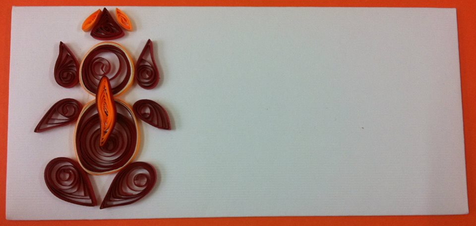quilled ganpati envelope