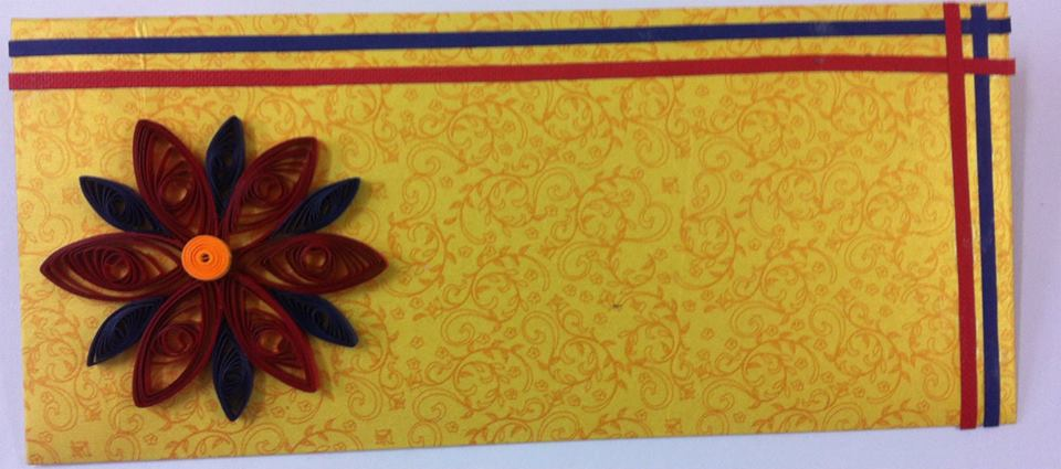 Quilled envelope